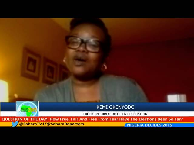 #NIGERIADECIDES 2015 Kemi Okenyodo of CLEEN Foundation on Security