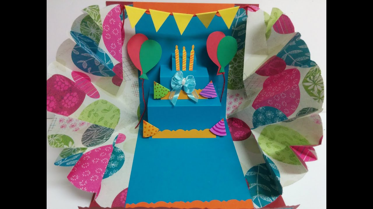Art And Craft Explosion Pop Up Birthday Card Youtube