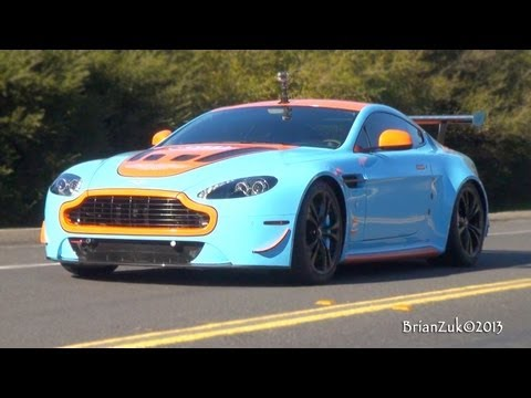 Gulf Aston Martin V12 Vantage - In Action