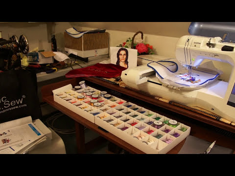 Brother embroidery machine - Creating a large embroidery Special Edition Video