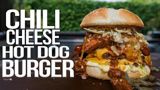 Chili Cheese Hot Dog Burger | SAM THE COOKING GUY 4K
