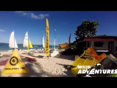 Wind adventures Orient bay St Martin Kiteschool windsurf