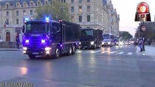 Massive Police Convoy Bank Transfer // Convoi Banque de France