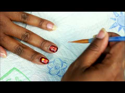 Back to School Fall Nail Design Fake Water Marble Inspired  Tutorial (Requested)