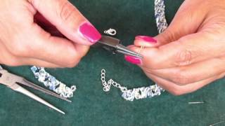 Beading4perfectionists : How to add a clasp beginning beaders tutorial