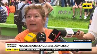 Movilizaciones en zona del congreso