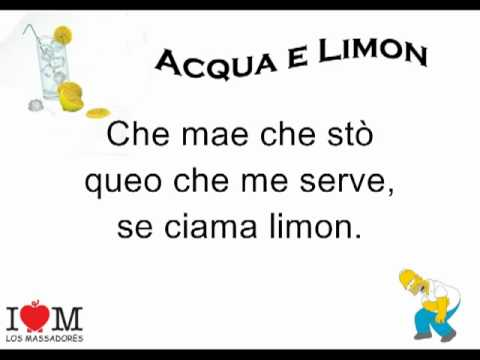 Music video Acqua e Limon -Los Massadores (Testo) - Music Video Muzikoo