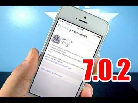 iOS 7.0.2 Released For iPhone 5S, 5C, 5, 4S, 4, All iPads & iPod Touch Models