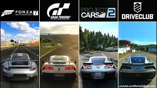 Forza 7 vs. Gran Turismo Sport vs. Project CARS 2 vs. DriveClub | Graphics, Rain Comparison PS4/Xbox
