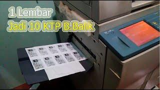"Cara Fotocopy KTP /SIM / KTA / ATM Bolak-balik ""Jadi 10 Dalam 1 Lembar"