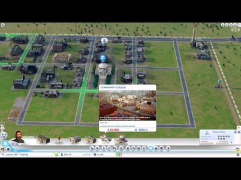 Let's Play SimCity - Education & Electronics Specialization Tutorial