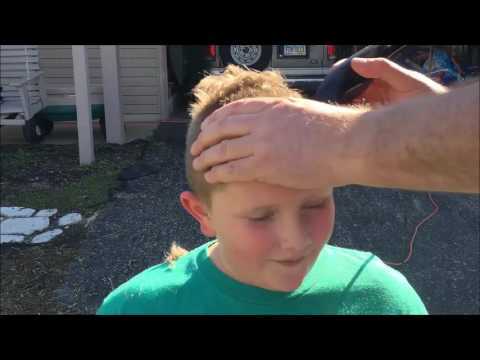 Y Guy reviews his first hair cut from dad!