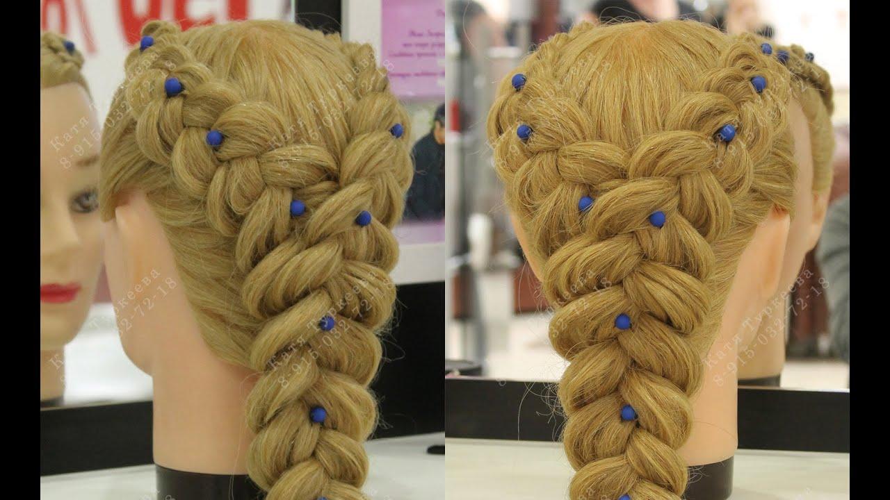 Прически плетение из двух кос