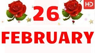 26 FEBRUARY Special New Birthday Status Video , happy birthday wishes, birthday msg quotes जन्मदिन