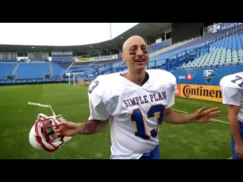 Football Photo Shoot (Behind The Scenes) - Simple Plan
