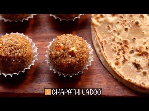 Chapathi Ladoo Recipe | Roti Laddu Recipe | Leftover Chapati Recipes