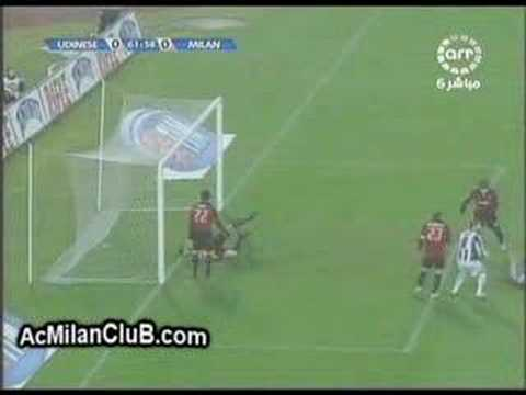 Udinese 0 - 1 AC Milan (20 Jan 2008) [extended highlights]