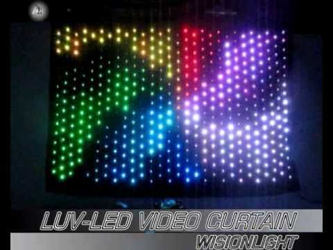 LUV-LVC-203(P9) stage lighting,led stage effect light,led video/vision curtain,led display