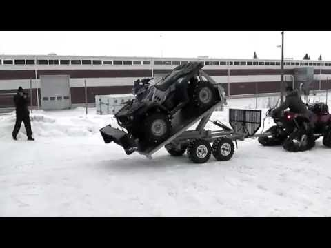 ATV Trailer Vahva Jussi 1500 with hook lift system