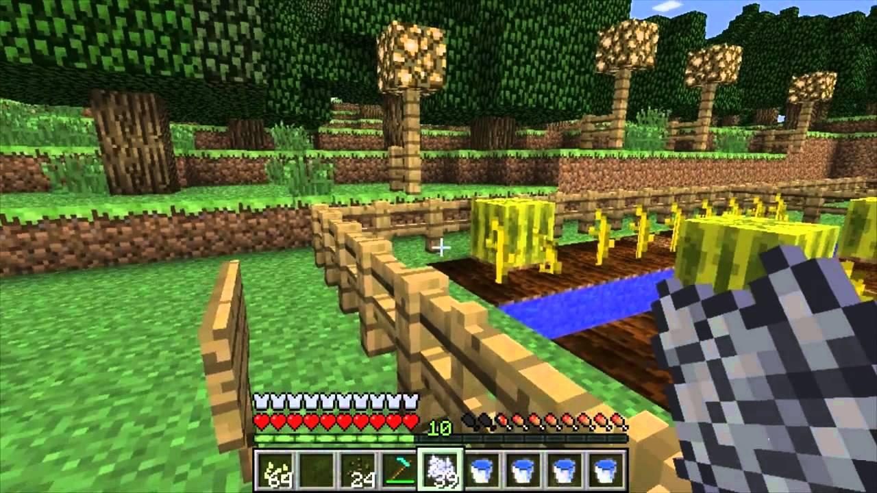 Tutorial Minecraft Como Plantar Calabazas Y Sandias