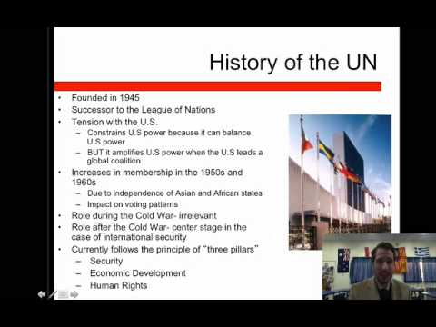 International Relations Lesson 15- International Organization, Law and Human Rights Part 1