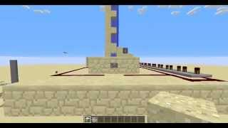 Minecraft Tutorial - Sand Stacker Cannon How to Make a Sand Stacker 1.7 - 1.8.7