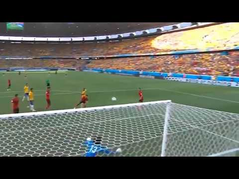 World Cup 2014   Amazing save by Mexico Guillermo Ochoa Brazil vs  Mexico