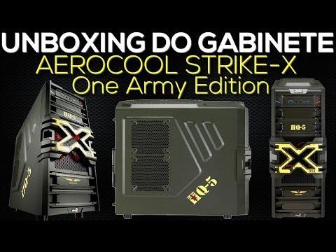 Unboxing Gabinete AERO COOL Strike-x ONE ARMY Edition