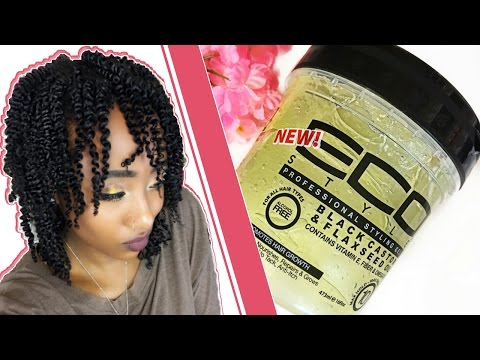 MY BEST TWIST OUT EVER   Eco Styler Black Castor & Flaxseed Oil Gel Review 4a/4b/4c   AseaMae