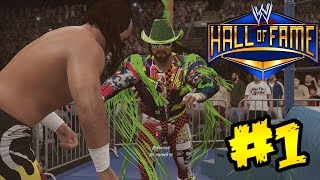"WWE 2K16 - Hall Of Fame Showcase - Macho man Randy Savage Vs Jake ""The Snake"" Roberts"