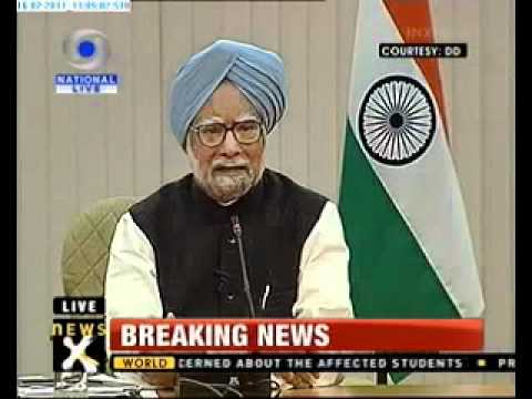 Manmohan Singh meets the press
