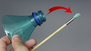 HOW TO MAKE SUPER BRUSH FROM THE PLASTIC BOTTLE