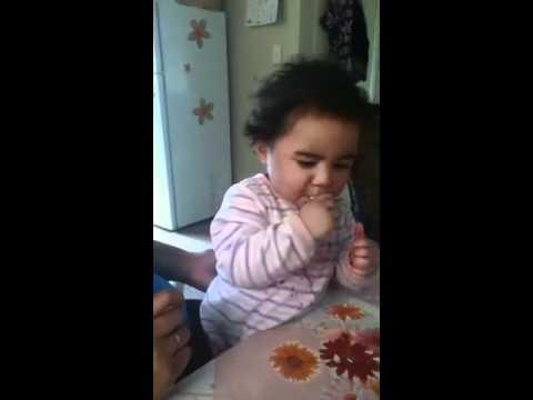 niece on a eating marathon lol