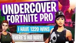 Undercover Fortnite Pro in Random Duos - They don't believe how many wins I have lol...