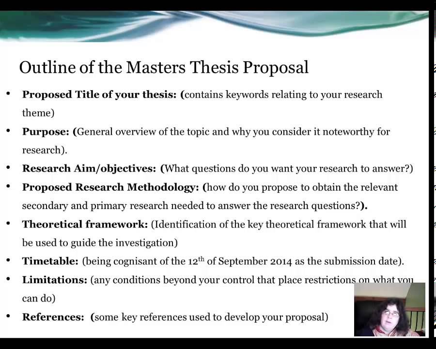 Proposal For Dissertation