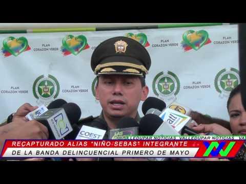 """Policía recaptura a alias """"niño sebas"""" integrante de la banda delincuencial primero de mayo"""