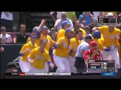 UC Santa Barbara vs Louisville Walk Off Grand Slam Radio Call