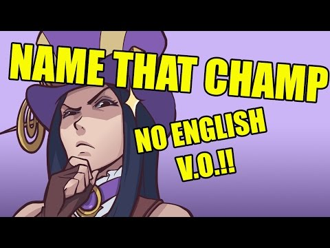 /ALL Chat | Name That Champ: No English Allowed