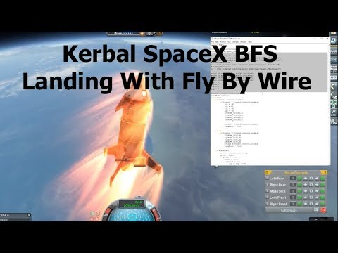 Simulating The BFS Descent 'Skydive' In KSP - Fly By Wire with kRPC