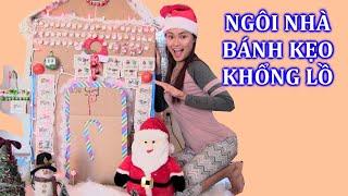 Làm Ngôi Nhà Bánh Kẹo Khổng Lồ Đón Noel  / Bánh Kẹo Noel  Chị Bí Đỏ