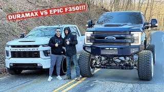 WHISTLINDIESEL BREAKS HIS NEW $102,000 F350 Racing My STOCK 2020 Duramax!!! *LOL*