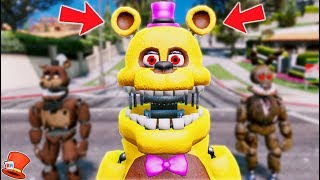 BRAND NEW UN-NIGHTMARE FREDBEAR ANIMATRONIC! (GTA 5 Mods For Kids FNAF RedHatter)