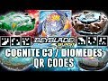 QR CODES COGNITE C3, DIOMEDES E MAIS! - BEYBLADE BURST APP