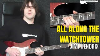 """All Along The Watchtower"" by Jimi Hendrix - Guitar Lesson w/TAB - MasterThatRiff! 63"