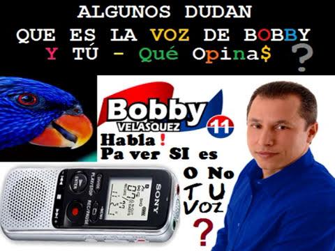 PRIMERA 1ERA GRABACION OFICIAL  DE ROBERTO BOBBY VELASQUEZ - CHASCO PRD 2014