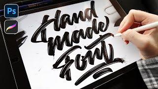 Lettering design - Handmade font |  Adobe Photoshop & Procreate