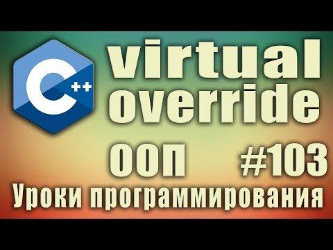 Виртуальные методы класса c++. Ключевое слово virtual. Ключевое слово override. ООП. C++ #103
