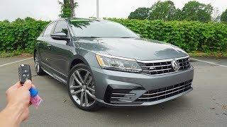 2019 Volkswagen Passat 2.0T SE R-Line: Start Up, Walkaround, Test Drive and Review