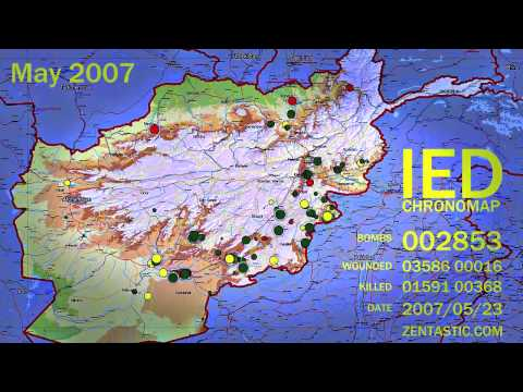 IED Attacks from Wikileaks Afghanistan War Logs