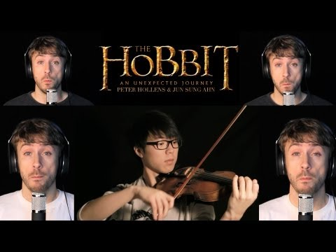 The Hobbit - Misty Mountains - Jun Sung Ahn &amp; Peter Hollens Violin/A Cappella Cover
